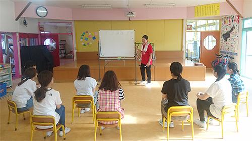 北海道の幼稚園へ出張ダンスレッスン、講習