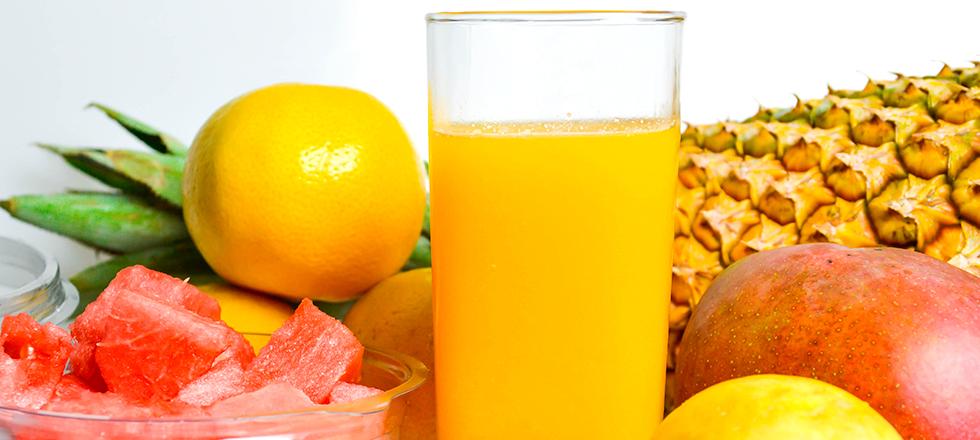 Saft aus exotischen Früchten