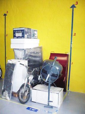 ejemplo de almacenaje en trastero de 3 metros cuadrados en Superbox Murcia