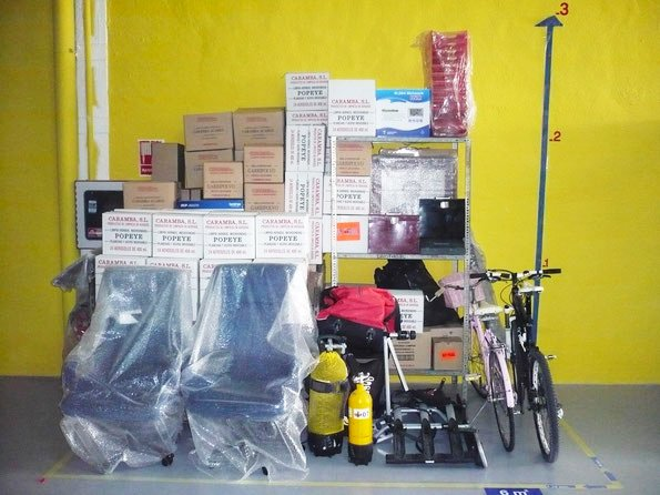 ejemplo de almacenaje en trastero de 6 metros cuadrados en Superbox Murcia