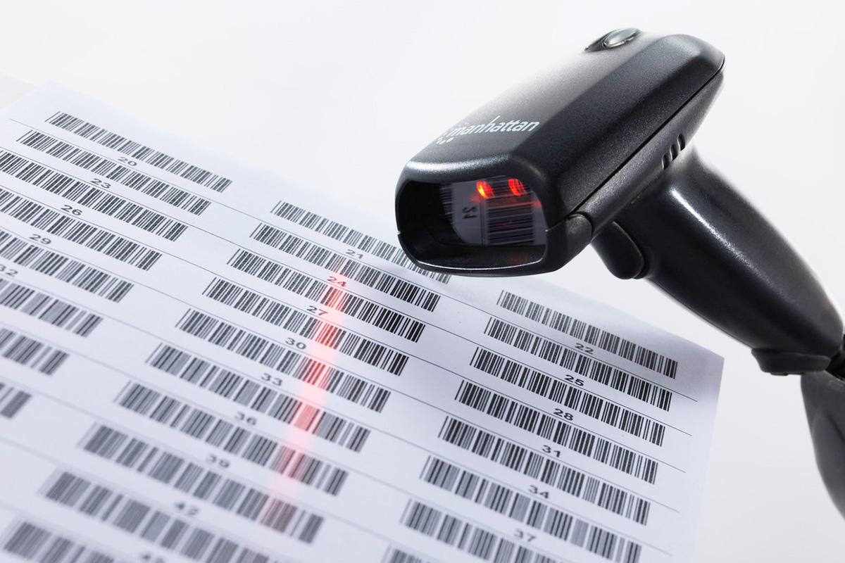 Barcode milling file scanning