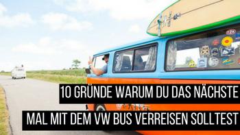 Surfer VW Bus auf dem Weg zum Strand