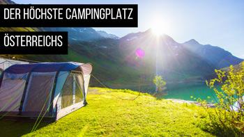 Campingplatz am Zeinisee in Galtür