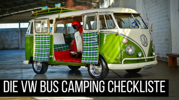 VW Bus Camping Checkliste