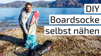 DIY Boardsocke selbst nähen am Attersee