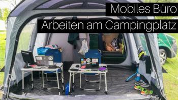 Outwell Zelt mit VW Bus am Campingplatz