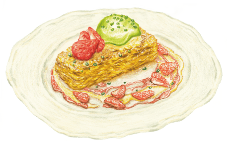 春イチゴとピスタチオのフレンチトースト