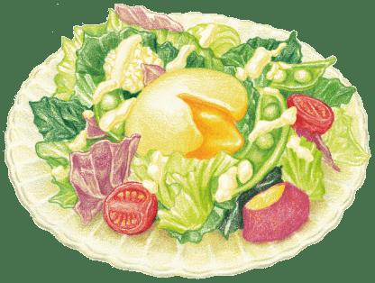 半熟たまごのシーザーサラダ