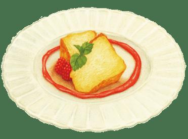 ココテラス自家製とろけるチーズケーキ