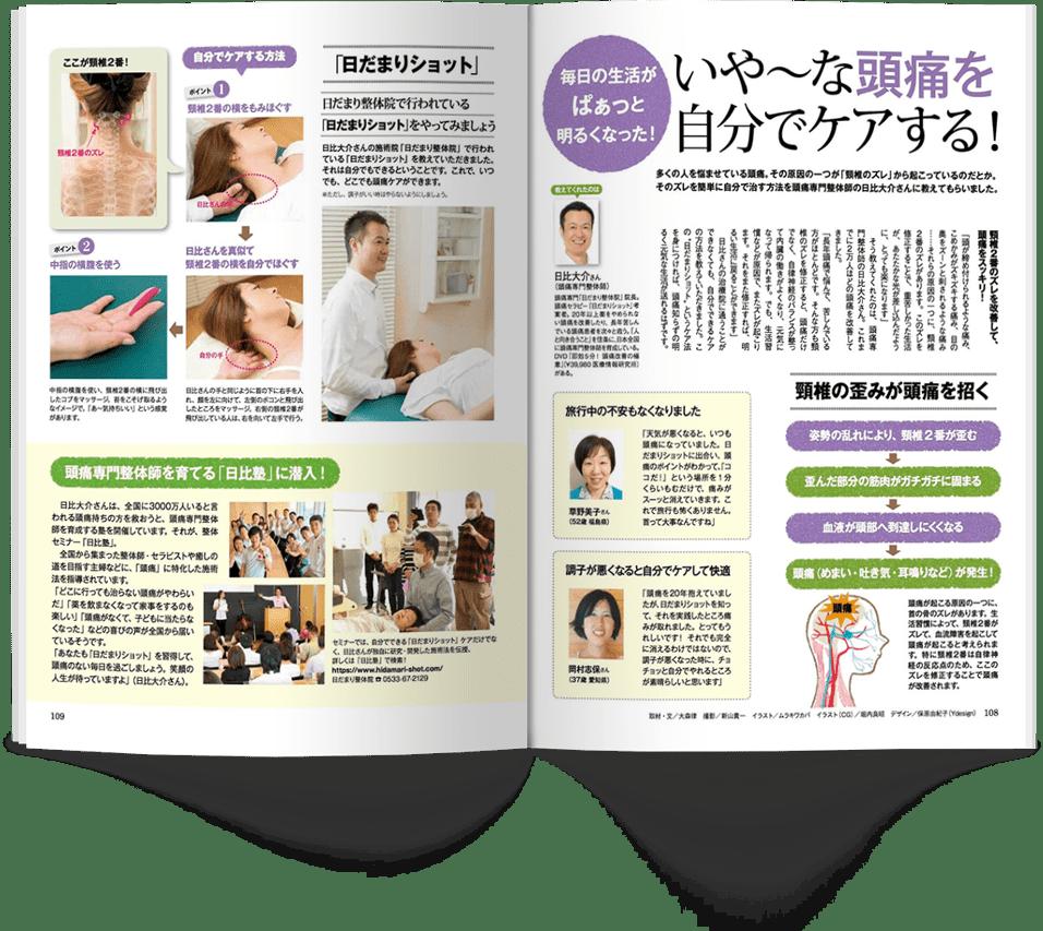 掲載された雑誌のページ