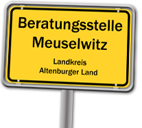 Ortsschild Meuselwitz