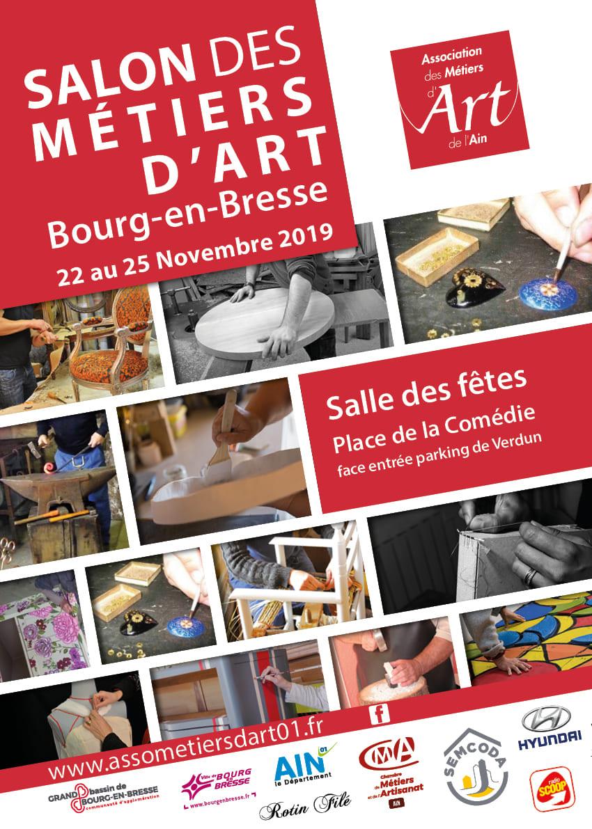 Affiche du salon des métiers d'art de l'Ain 2019