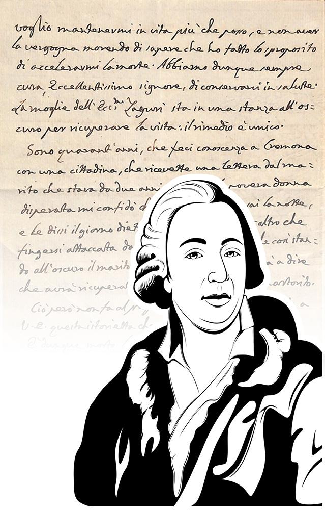 Luxus-Handtasche mit Schriftstück von Giacomo Casanova