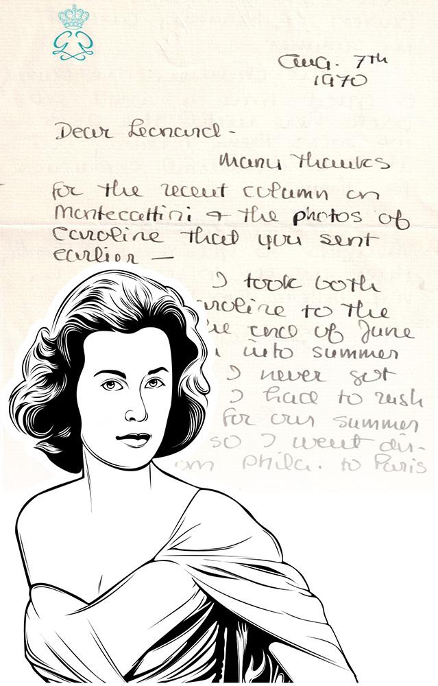 Luxus-Handtasche mit Schriftstück von Grace Kelly