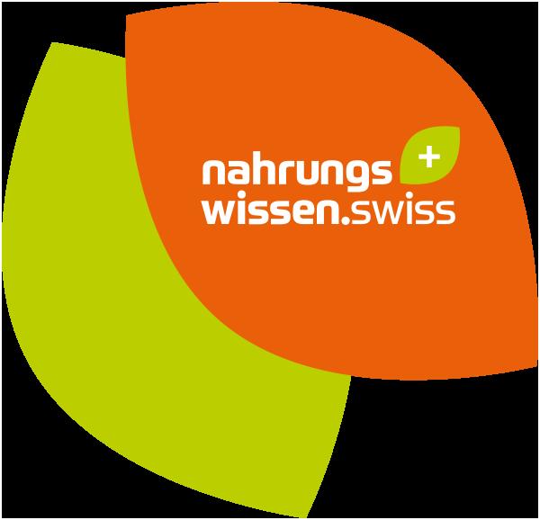 Logo Nahrungswissen zwei Blätter mit Logo mittig