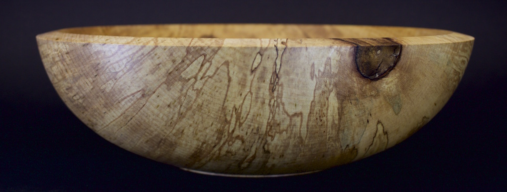 gestockte Ahornschale / spalted maple bowl