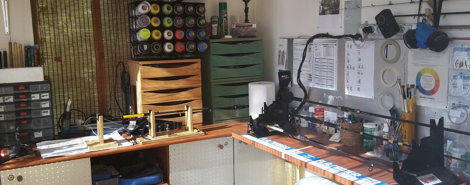 Marbling et Custom Cannes Atelierpechecustom TigerRodDesign