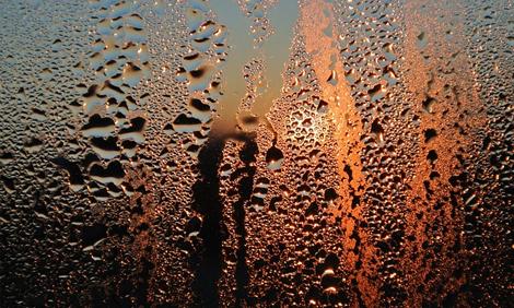 Beschlagen Fensterscheibe
