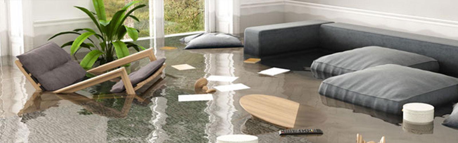 Überschwemmung im Wohnzimmer