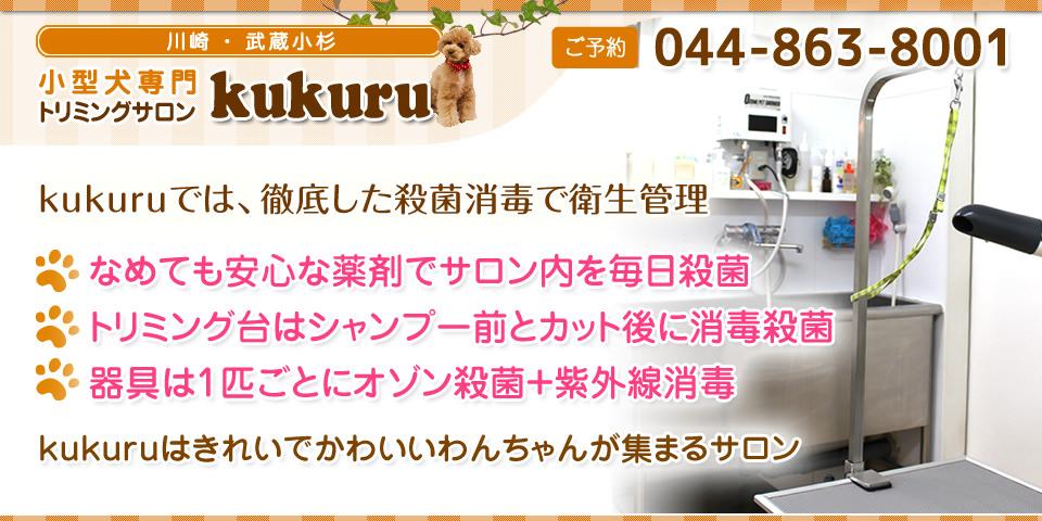 kukuruでは、徹底した殺菌消毒で感染防止