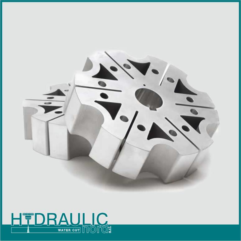 Hydraulic Nord Bolzano taglio all'acqua waterjet di materiali rigidi