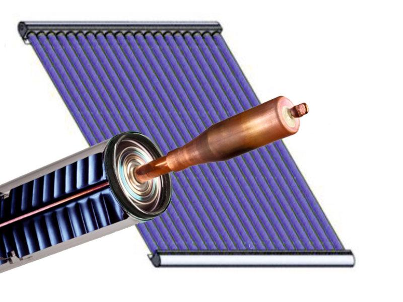 heat pipe Röhre und Kollektor