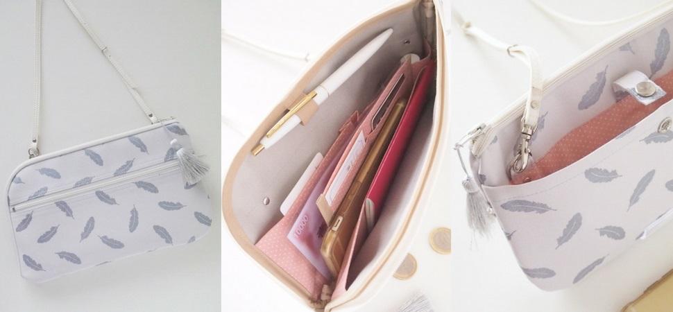 お財布ショルダーバッグ・フェザー|ラベンダーサシェ