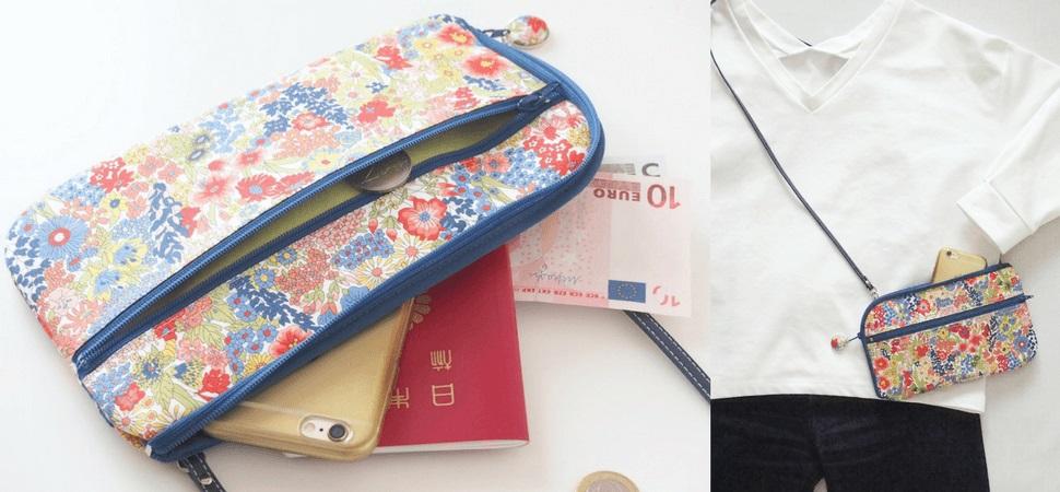 画像:リバティプリント・マーガレットア二―のお財布ショルダーバッグ