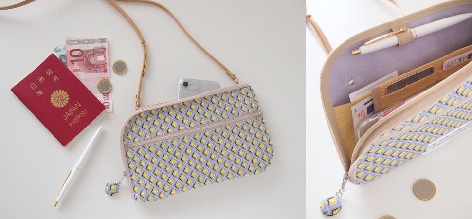 画像:リバティプリントDiamasで作ったお財布ショルダーバッグ