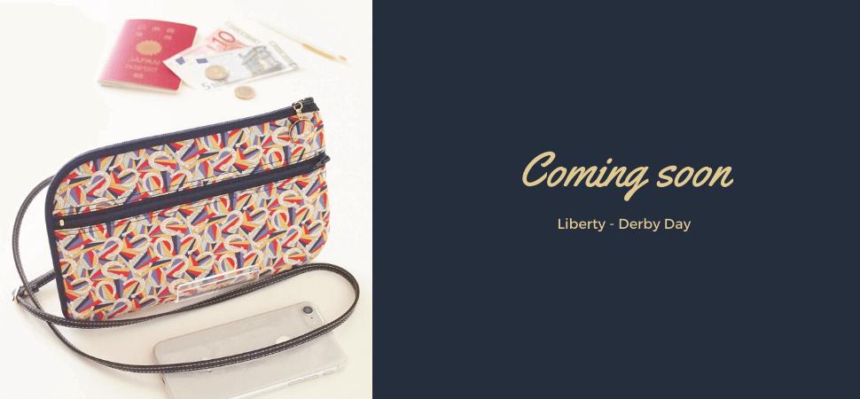 画像:リバティプリント・ダービーデイで作った新作お財布ショルダーバッグ