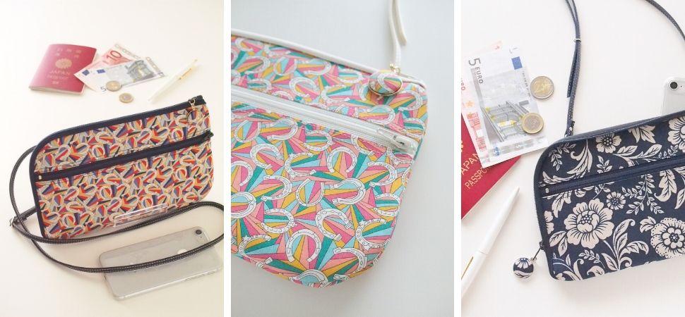 画像:リバティプリント・ダービーデイ、ボタニカル柄作った新作お財布ショルダーバッグ