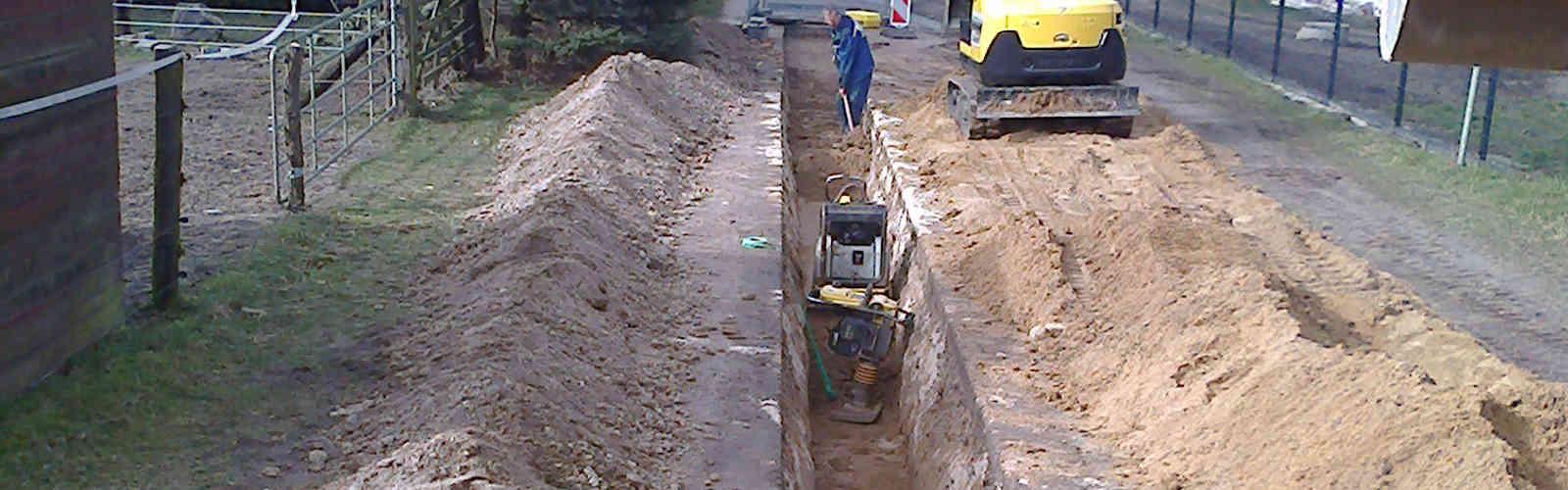 Kanalbauarbeiten der Heiko Herrmann Tief- & Rohrleitungsbau GmbH