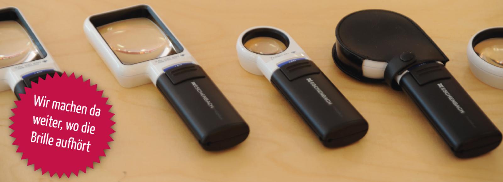 Vergrößernde Sehhilfen von Strodthoff-Optik