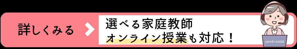 阪南市で選べる家庭教師!①1対1の対面授業②オンライン指導からご希望の指導方法をお選びいただけます。