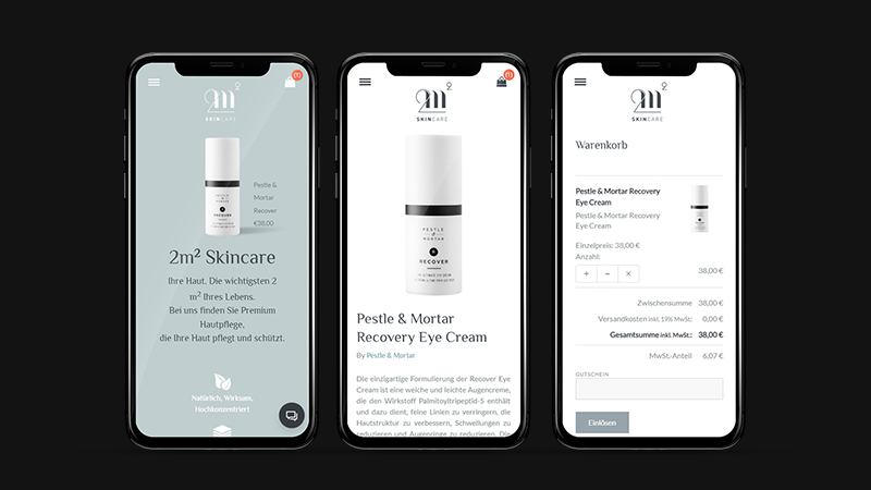 2m2 SkinCare - Website Design