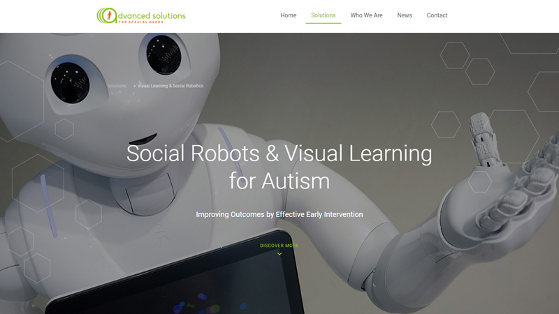 Advanced Solution for Special Needs - Website preview