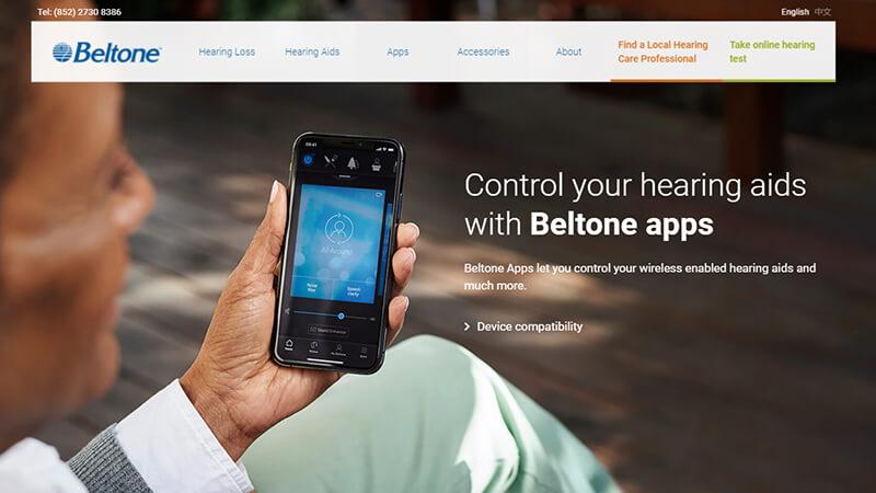 Beltone™ Asia - Website Design