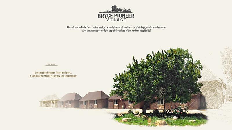 Bryce Pioneer Village - Website Design