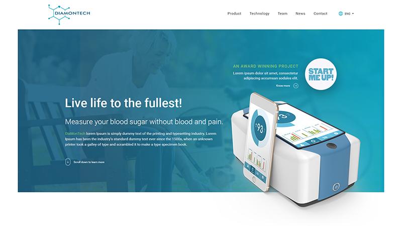 DiaMonTech - Website preview