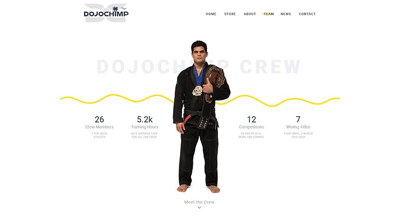 Dojochimp - Website preview