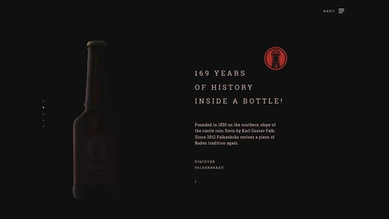 Falkenbräu Baden Beer - Website Design