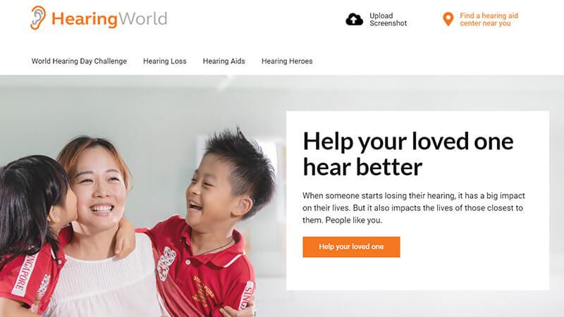 World hearing day challenge - Website Design