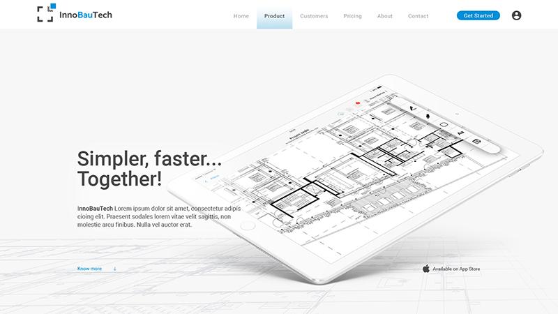 InnoBauTech - Design mockup
