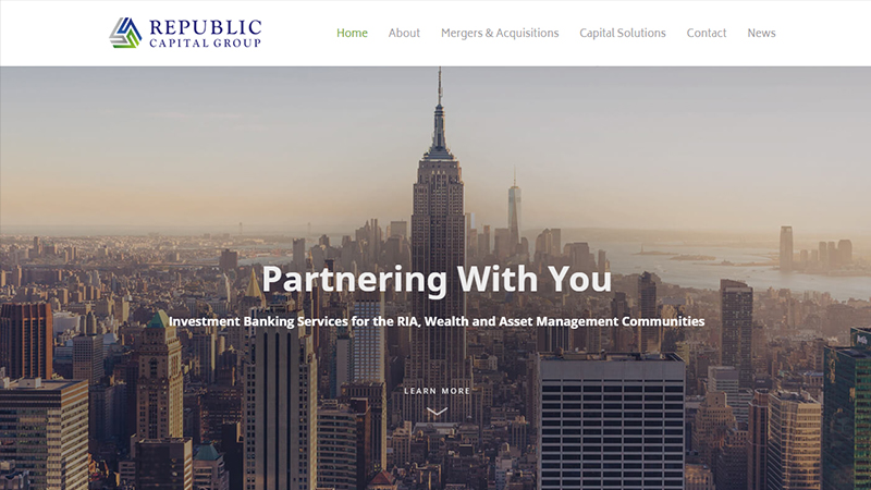 Republic Capital Group - website preview