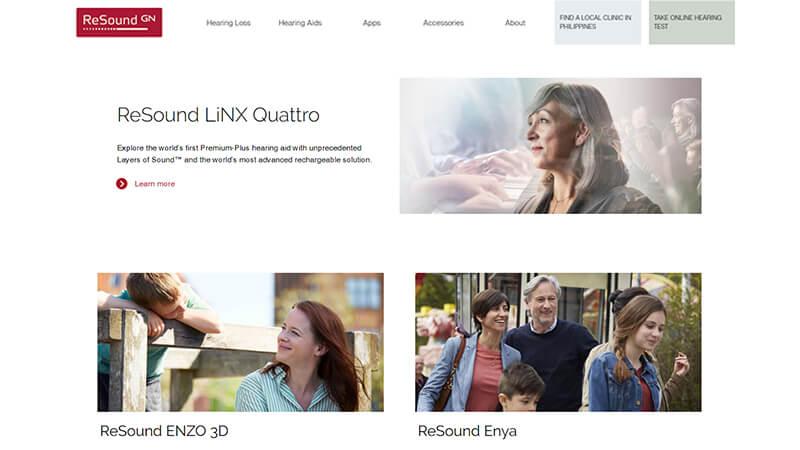 ReSound GN Asia - Website Design
