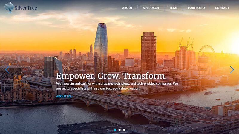 SilverTree Equity - website preview image