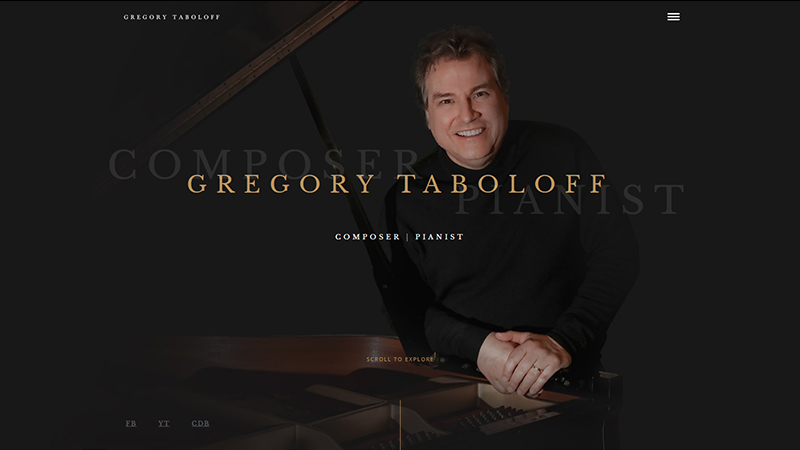 Gregory Taboloff - Website preview