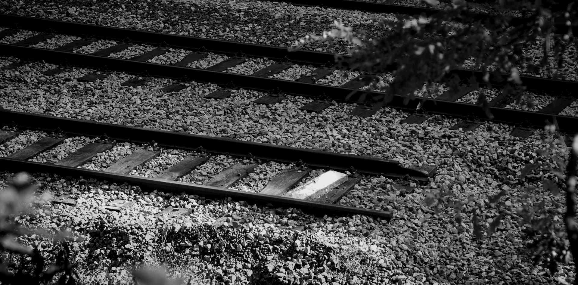 Das Ende einer Eisenbahnstrecke analog zum Ende der Motivation