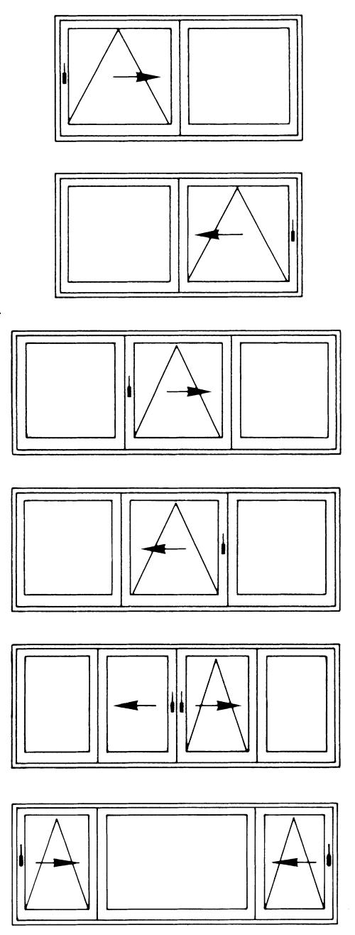 Parallel-Kipp-Schiebe-Türen Varianten