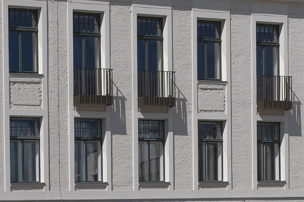 Ausschnitt Gebäuderückseite